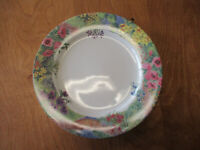 "Nikko Japan SECRET GARDEN Dinner Plate 10 3/8"" Multicolor Floral   3 available"