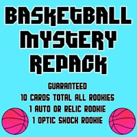 NBA Basketball Mystery Repack - 10 Rookies - Auto or Relic + Optic Shock!