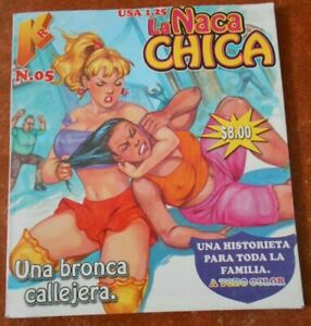 NACA CHICA comic SEXY WOMEN LUCHA LIBRE CATFIGHT fight wrestling PULLING HAIR