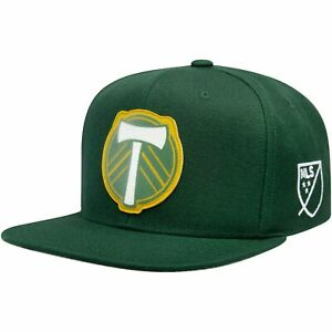 Portland Timbers Mitchell & Ness Silicon Grass Adjustable Snapback Hat - Green