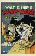 MICKEY MOUSE THE MAD DOCTOR MOVIE POSTER Rare Vintage