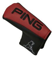 PING Japan Golf PT Putter Cover Headcover HC-U192 Magnet Red Black