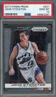 John Stockton Utah Jazz 2013 Panini Prizm Basketball Card #201 PSA 10 GEM MINT