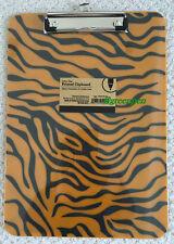TIGER Clipboard LSU Clemson Auburn Memphis Mizzou Princeton stripes plastic NEW