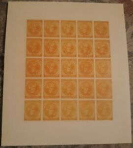Springfield facsimile 1935 Re-print reproductions 25 To A Sheet Scott# 14