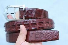 Brown Genuine Alligator CROCODILE BELT Skin Leather Men's - W 1.3''