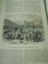 La Trilla ou Dépiquage au Chili 1859 Gravure Print Article