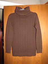 Ralph Lauren Black Label $750 Brown Cable 100% Cashmere Funnel Neck Sweater M