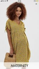 NewLook Maternity Smock Dress In Yellow Print New With Tags 18