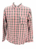Nike 6.0 Long Sleeve Button Up Pink Plaid Shirt Mens Small Regular Superb