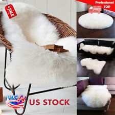 Faux Fur Soft Warm Sheepskin Rug Fluffy Thick Wool Mats Room Rugs*-