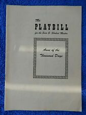 Anne Of The Thousand Days - Sam S. Shubert Theatre Playbill - September 1949