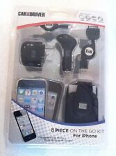Car and Driver 8 Piece On The Go kit for iphone 4 /4s/1g/3g/3gs cable/retractabl