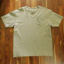 Carhartt Men's XLT Workwear Pocket Tan Short Sleeve Work T-Shirt 100% Cotton