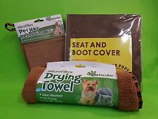 Dog Walkers Protection Kit - Seat/Boot Cover, Drying Towel & Mitt
