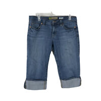 Old Navy Womens Size 8 Blue Mid-Rise Cuffed Denim Jean Shorts