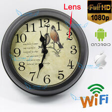 Wireless HD 1080P Spy Hidden Wall Clock Motion DVR IP P2P Camera Video Camcorder