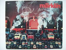 beau catalogue Märklin jouet train miniature HO locomotive 1981 FR