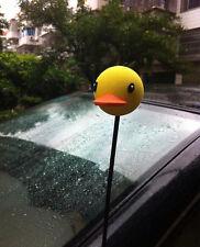 Cute Yellow Rhubarb duck Antenna Balls Car Aerial Ball Antenna Topper Decor Ball