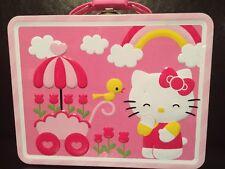 Hello Kitty Square Tin Box Mini Cabinet Storage Tiny Lunch Box Camper Kid Deco