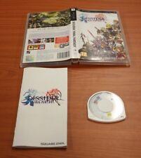 JEU SONY PSP  Final Fantasy Dissidia  complet  VF