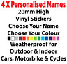 """SMALL"" British Rally Car personalised Name decal sticker graphics 20mm height"