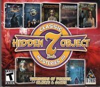 Classic Hidden Object Mysteries III 7 Pack PC Games Windows 10 8 7 XP Computer