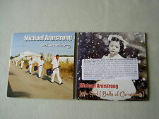 MICHAEL ARMSTRONG job lot of 2 promo CDs Little Girl (Bells Of Christmas)
