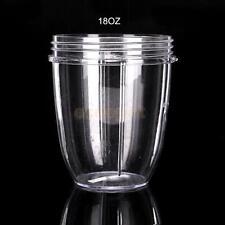 CLEAR TALL CUP 18 Oz FRUIT JUICE EXTRACTOR MUG FOR Nutribullet Nutri Bullet