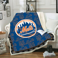 New York Yankees Christmas Fleece Blanket Bedding Decor Gift.