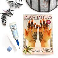 Jagua Henna Temporäre Tattoo Gel * Jetzt mit Fein Linie Düse *Hält 10-15 Tage Ta