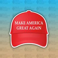 "MAGA Make America Great Again Red Hat Trump Funny 4"" Custom Vinyl Bumper Sticker"