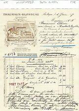 Dépt 37 - Restigné - Belle Entête d'un Viticulteur du 04/06/1897