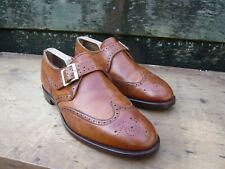 CHEANEY MONK STRAP – BROWN / TAN  - UK 10.5 – SISLEY- EXCELLENT CONDITION