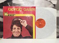 GIORGIO GABER - DOVE ANDATE ? LP EX+/EX+ SEXUS ET POLITICA 1981 REISSUE SM 7000