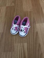 Baby Schuhe Sneakers Chucks Gehäkelt Neu Größe ca 0-3 Monate