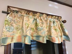 Waverly Fairfield Cape-Coral Rod Pocket Valance 78 W x 18 L Coral