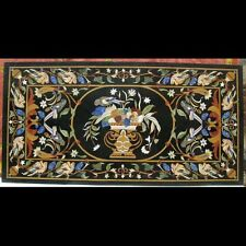 """48"""" x 24""""  Pietra Dura Inlay Art Marble Dining Table Top For Home Decor"""