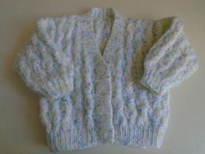New Hand Knitted Multi Colour Cardigan 6/12 months