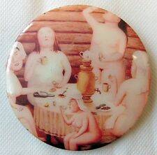 Tea and Vodka Drinking Party Russian USSR Fridge Magnet, 7.5 cm