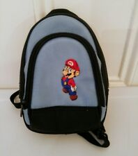 Nintendo DS Mario Mini Canvas Backpack Game System Carrying Case Blue Black