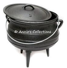 Cast Iron Potjie Pot Sz 3 Cauldron Survival Gypsy Kettle