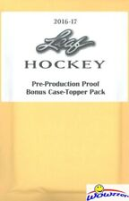 (8) 2016/17 Leaf Hockey Pre-Production Proof Bonus Case Topper Packs with 1/1