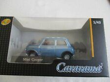 Miniature Mini Cooper Blue Roof Checkerboard Cararama 1/43