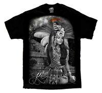 Ritual Azec Mexican Warrior Chicano Art David Gonzales DGA T Shirt Viva Mexico