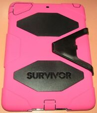 Griffin Survivor Hard Shell case Apple iPad Air, Pink & Black, with easel stand