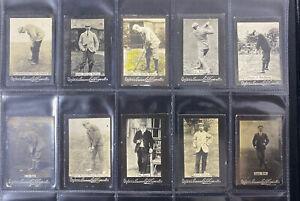 1901 Odgens Guinea Gold Cigarretes Golf Cards X18