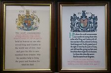 WW1 AND WW2 BRITISH MEMORIAL SCROLLS AND HOME GUARD MEDAL SCROLLS MADE TO ORDER