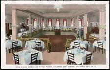 ATLANTIC CITY NJ Casino Main Dining Room & Dance Floor Vintage Postcard Old PC