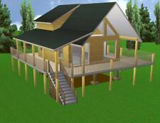 Cabin Plans 20x24 w/Loft Plan  Package, Blueprints, &  Material List